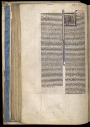 Historiated Initial With Elkanah And His Wives, In A Bible